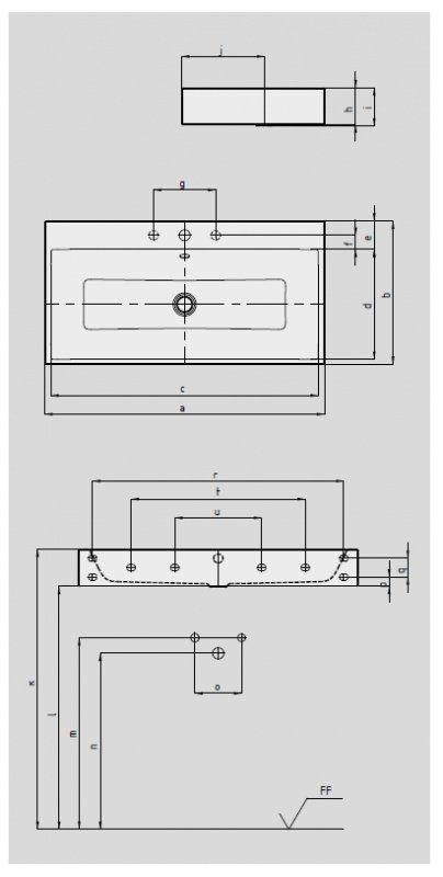 30b43cb1c Kaldewei Умывальник стальной Kaldewei CONO BUILT-IN WASHBASIN 902206013001